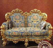 Louis XV style sofa / fabric / wooden / 2-seater