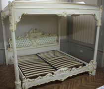Canopy bed / double / Louis XV style / wooden