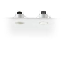 Recessed spotlight / indoor / LED / square
