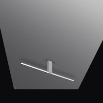 Surface-mounted light fixture / LED / linear / lacquered aluminum
