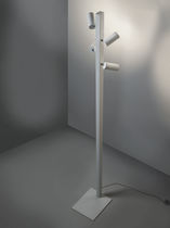 Floor-standing lamp / contemporary / aluminum / white