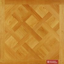 Solid parquet flooring / glued / oak / oiled