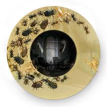 Wall-mounted mirror / original design / round / brass
