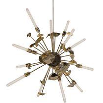 Original design chandelier / brass / LED