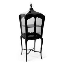 New Baroque design display case / floor-standing / glass / wooden