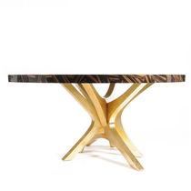 Original design dining table / wood veneer / oak / round