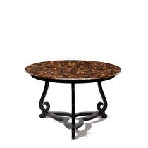 Original design coffee table / mahogany / round