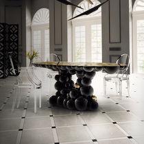 Original design dining table / walnut / brass