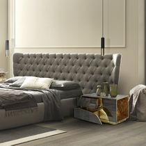 Original design bedside table / lacquered wood / brass / rectangular