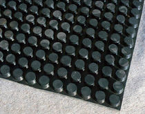 Rubber drainage membrane / drainage / for high-load surfaces / for flat roofs