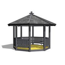 Wooden gazebo / for public areas