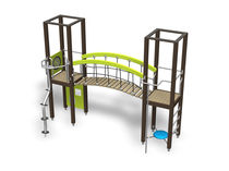 Wooden play structure / for playgrounds / modular