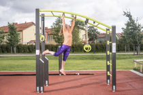 Metal pull-up bar / for playgrounds / double