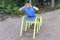 Outdoor sit-up bench