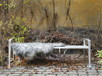 Public bench / Scandinavian design / wooden