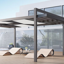 Wall-mounted pergola / self-supporting / polycarbonate canopy