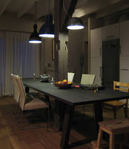 Dining table / contemporary / oak / rectangular