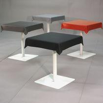 Original design bistro table / metal / elastomer / rectangular