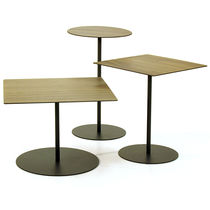 Side table / contemporary / wooden / metal