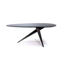 Original design table / wooden / steel