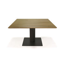 Dining table / contemporary / metal / oak