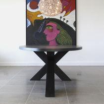 Contemporary dining table / oak / MDF / American walnut