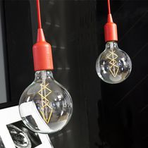 Portable lamp / contemporary / ABS / red