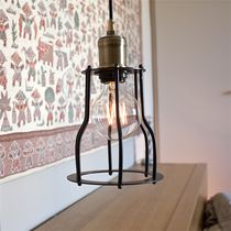 Pendant lamp / contemporary / steel / brass