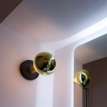 Contemporary wall light / painted metal / LED / round