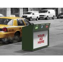 Public waste bin / floor-mounted / plastic / metal