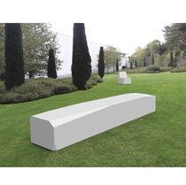 Public bench / garden / contemporary / concrete
