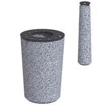 Security bollard / steel / plastic / granite
