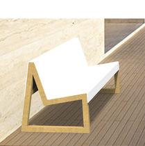 Public bench / contemporary / wooden / Corian®