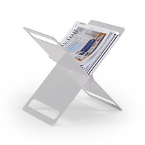 Contemporary magazine rack / residential / aluminum
