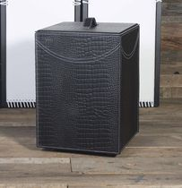 Contemporary chest / leather