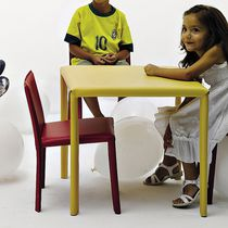 Contemporary chair / upholstered / stackable / child's