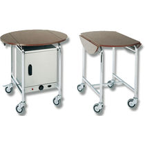 Wooden service trolley / steel / commercial