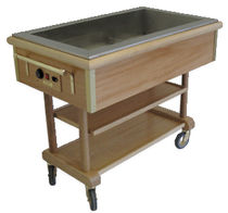 Stainless steel trolley / warming