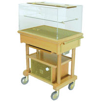 Wooden trolley / refrigerated
