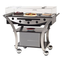 Dessert service trolley / stainless steel / commercial / refrigerated