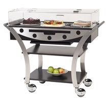 Cheese trolley / garden / stainless steel / for restaurants