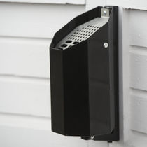 Wall-mounted ashtray / steel / stainless steel / for outdoor use