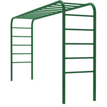 Fitness trail ladder / horizontal / steel