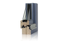 Swing window / in wood / triple-glazed