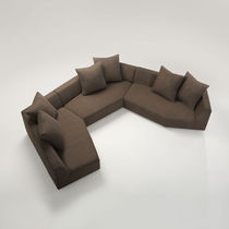 Modular sofa / contemporary / fabric / 6-seater