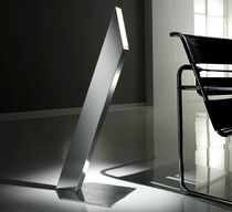 Floor-standing lamp / original design / stainless steel / reading