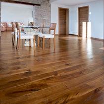 Walnut wood flooring / engineered / solid / glued