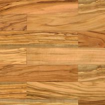 Olive parquet flooring / solid / glued / oiled