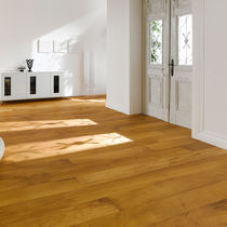 Iroko wood flooring / engineered / solid / glued