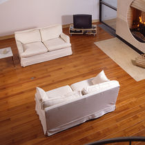Doussie wood flooring / solid / glued / floating